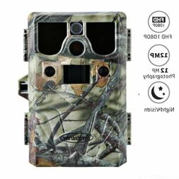 Trail Game Camera 12MP FHD 1080P Waterproof IR Hunting Scout