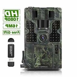 trail game camera 16mp 1080p waterproof hunting