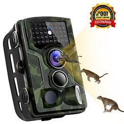 Binrrio Trail Camera, 1080P 16MP Game Camera with 120°Wide