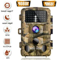 Campark Trail Hunting Camera 14MP FHD 1080P Waterproof IR  W