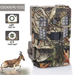 Wosports Trail Camera 16MP 1080P Hunting Game Camera, Wildli