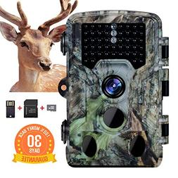 Memburu Trail Camera Hunting Game Camera 16MP 1080P Scouting
