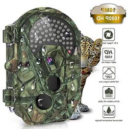 THZY Trail Camera, Waterproof 16MP 1080P HD Game Hunting Cam