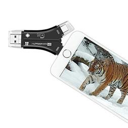 Trail Camera SD Card Reader for iPhone Android Phones, SD Ca