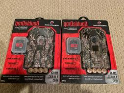 TWO Stealth Cam DoubleDrop 16MP Trail Camera - Batteries + S