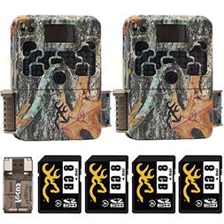 Two Browning Strike Force HD 850 Trail Cameras  with Four 8G