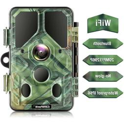 Campark WiFi Bluetooth Trail Camera 20MP 1296P Game Camera N