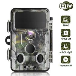 WiFi Trail Hunting Camera TOGUARD 20MP HD 1296P Wildgame Nig