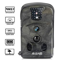 Bestok Trail Camera 120° 12MP HD Infrared Night Vision 65ft