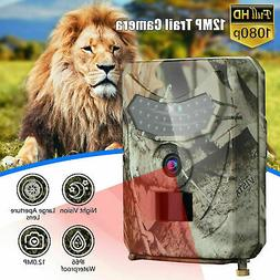 Wildlife Trail Camera Hunting Game Video Outdoor 1080P 12MP